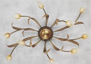 744010, Plafoniera con diffusori a forma di fiore