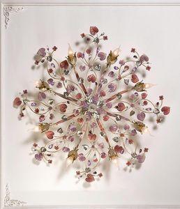 97808, Plafoniera con foglie decorative