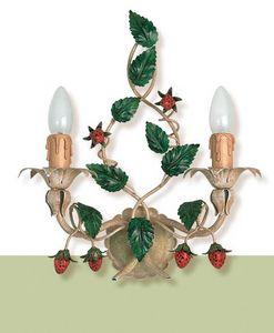 A.8335/2, Applique in ferro battuto con decorazione fragola