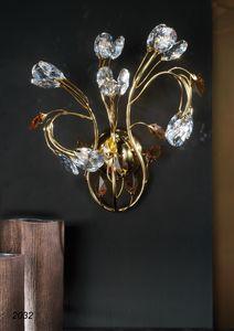 Art. 2032 Matisse, Applique in ottone dorato 24kt e cristallo