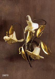 Art. 29870 Jolie, Lampada da parete con vetri di Murano