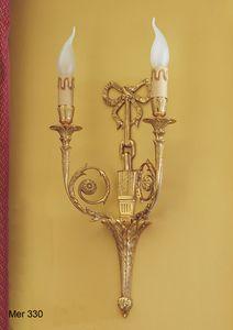 Art. MER 330, Lampada da parete realizzata in ottone placcato oro