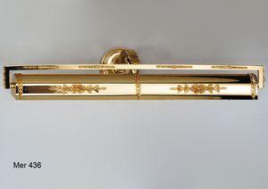 Art. MER 436, Applique da quadro in ottone dorato
