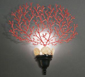 CORALLI HL1048WA-1, Applique con decorazione in corallo rosso