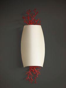 CORALLI HL1048WA-2, Applique in ferro e corallo rosso