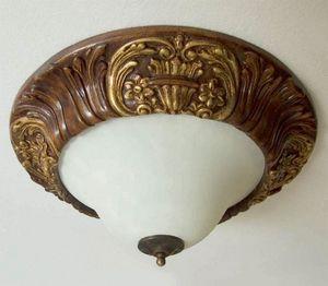 Palazzo Reale Art. PLA07/�64, Plafoniera classica, intagliata