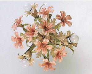 PL.4365/3, Plafoniera in vetro con finiture floreali