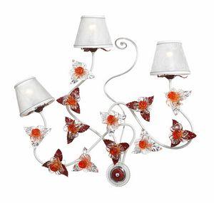 Rose AP/3, Applique con decori in vetro di Murano