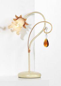 10231, Lampada da tavolo con pendolo in cristallo