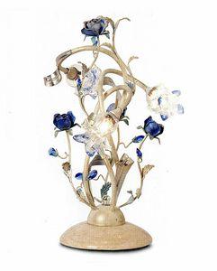 95833, Lampada da tavolo con fiori decorativi