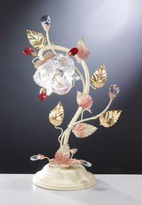99031, Lampada da tavolo dal design floreale