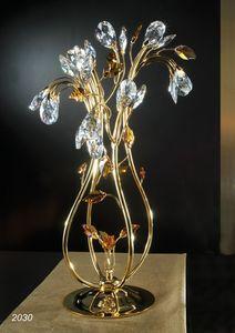 Art. 2030 Matisse, Lampada da tavolo con decori in cristallo Swarovski