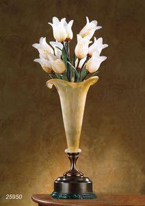 Art. 25950 Butterfly, Lampada da tavolo in ottone e vetri soffiati di Murano