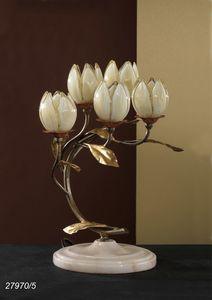Art. 27970/5 Fior di Loto, Lampada da tavolo con elementi in vetro