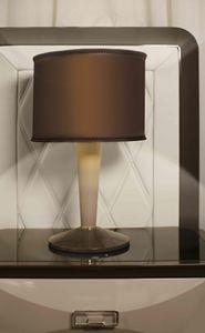 ART. 3361, Lampada da tavolo, con stelo in pelle