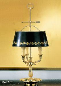 Art. MER 151, Lampada da tavolo in Ottone dorato
