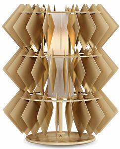 Diamante new lampada da tavolo, Lampada da tavolo con pendenti romboidali