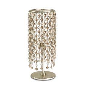 Gioia abat-jour, Lampada da tavolo in ferro, pendenti di vetro a 2 colori