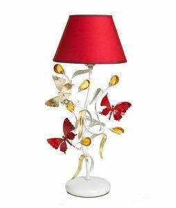 Julia LU/1, Lampada da tavolo con farfalle decorative