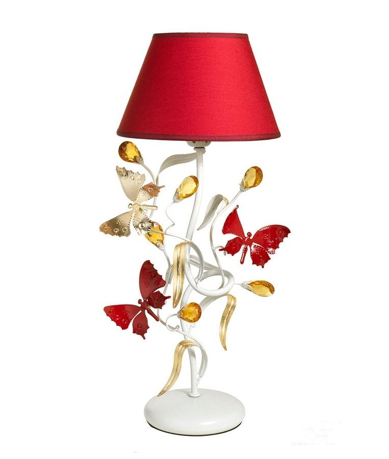Lampada Da Tavolo Con Farfalle Decorative Idfdesign