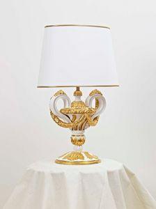LAMPADA DA TAVOLO ART.LM 0006, Lampada da tavolo intagliata a mano
