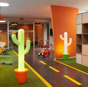 Lampada da terra Cactus Slide design per casa e locali pubblici LP CAC130, Lampada da terra a forma di cactus
