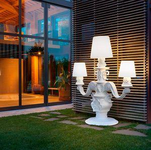 Lampada da terra candelabro design moderno Slide King of Love SD KIN230T, Lampada da terra a forma di candelabro