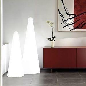 Lampada da terra design piramide moderno Slide Cono LP COF, Lampada a forma di cono