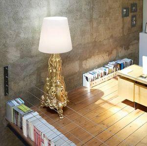 Lampada da terra LED stile barocco design moderno Slide Madame of Love LA MDM, Lampada in stile barocco rivisitato