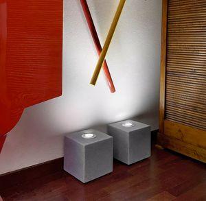 Lampada da terra tavolo design cubo Slide Block Rock LP STO0206, Lampada dalla forma cubica