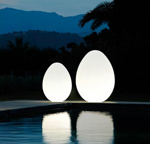 Lampada da terra uovo design moderno Slide Dino LP OVF, Lampada a forma di uovo