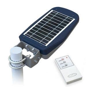 Lampione energia solare stradale con telecomando � LS030LED, Lampione con pannello fotovoltaico, per aree pedonali