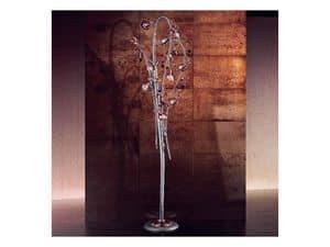 Melograno piantana, Piantana classica con elementi sferici in vetro craquel�