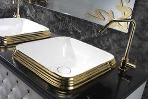 CLASS QUADRO BASIN, Lavabo in ceramica di lusso