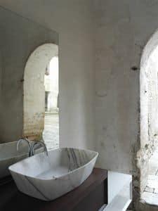 Diamond lavabo, Lavabo in marmo di carrara