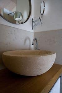 Serie Ellisse, Lavello tondo realizzato in pietra di Vicenza