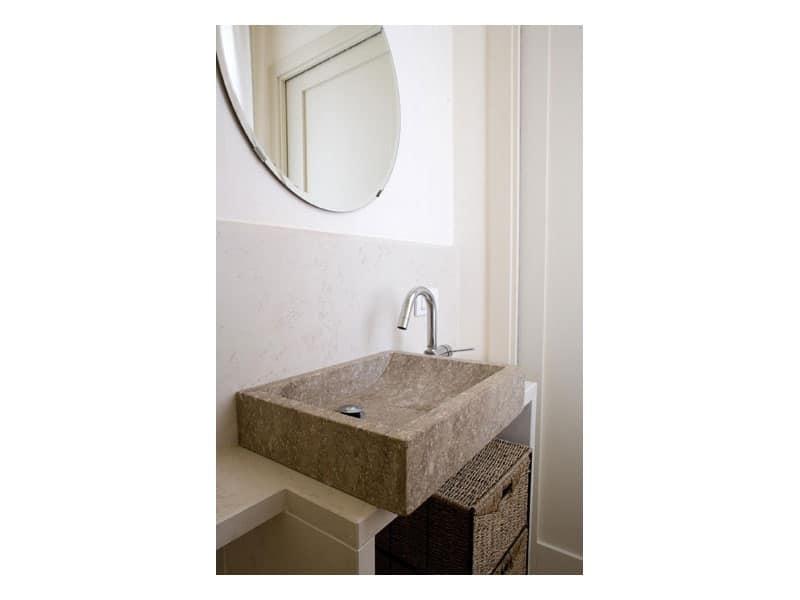 Serie You, Lavello rettangolare in pietra, disponibile su misura