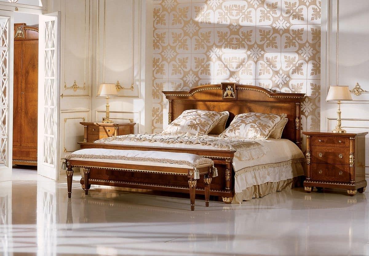 Testata In Legno Per Letto letto matrimoniale per camere da letto classiche di lusso