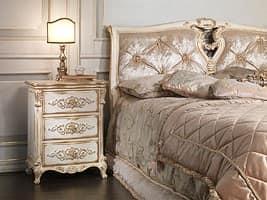 Art. 2006-IM letto, Letto in legno massiccio, testiera in seta, per albergo di lusso