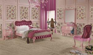 Venezia letto singolo, Camera da letto rosa