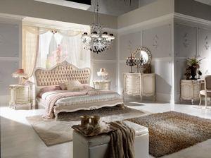 Chippendale letto laccato, Elegante letto intagliato
