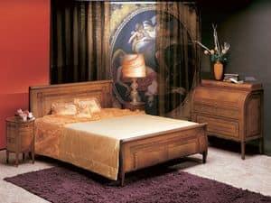 L304 Renoir letto, Letto matrimoniale, in legno curvato, stile classico