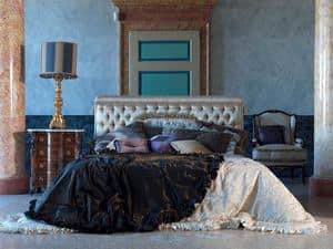 Tintoretto, Letto lussuoso, lavorazione capitonnè, per camere classiche