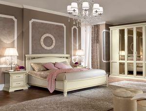 Treviso letto, Letto con intagli e decorazioni artigianali