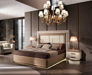 Diamond letto, Lussuoso letto imbottito