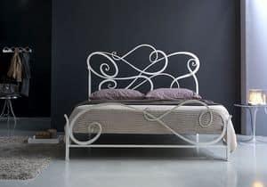 Aura matrimoniale, Letto classico in ferro, per Camera da letto