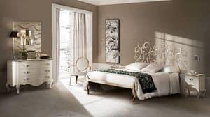 Klimt letto, Letto in ferro trafilato, lavorato a mano
