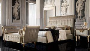 DIAMANTE upholstered bed, Letto imbottito, dallo stile classico