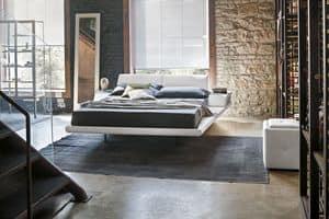 ELBA KB444, Letto king-size con cuscini reclinabili e comodini incorporati