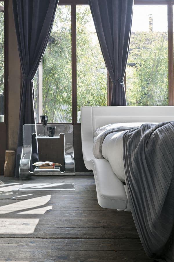 SARDEGNA KB447, Letto matrimoniale moderno ideale per hotel e loft